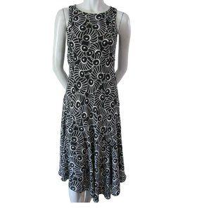 Tristan Black and White Asymmetrical Hem Dress 2